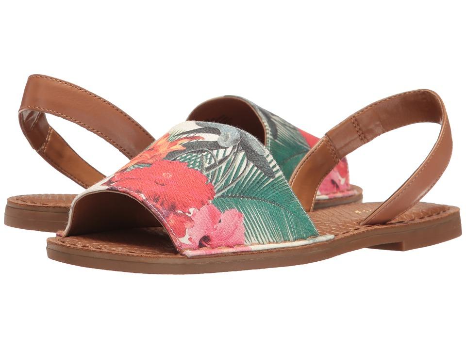 Nine West - Izzio 7 (Off-White Multi/Dark Natural Canvas) Women's Shoes