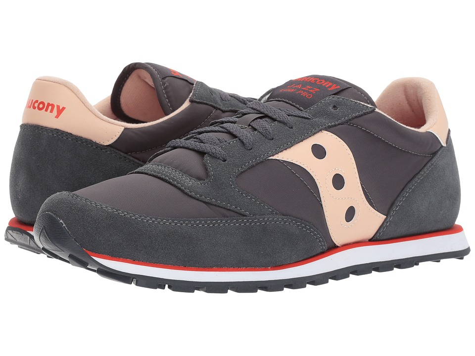 Saucony Originals - Jazz Low Pro (Charcoal/Tan) Men's Classic Shoes