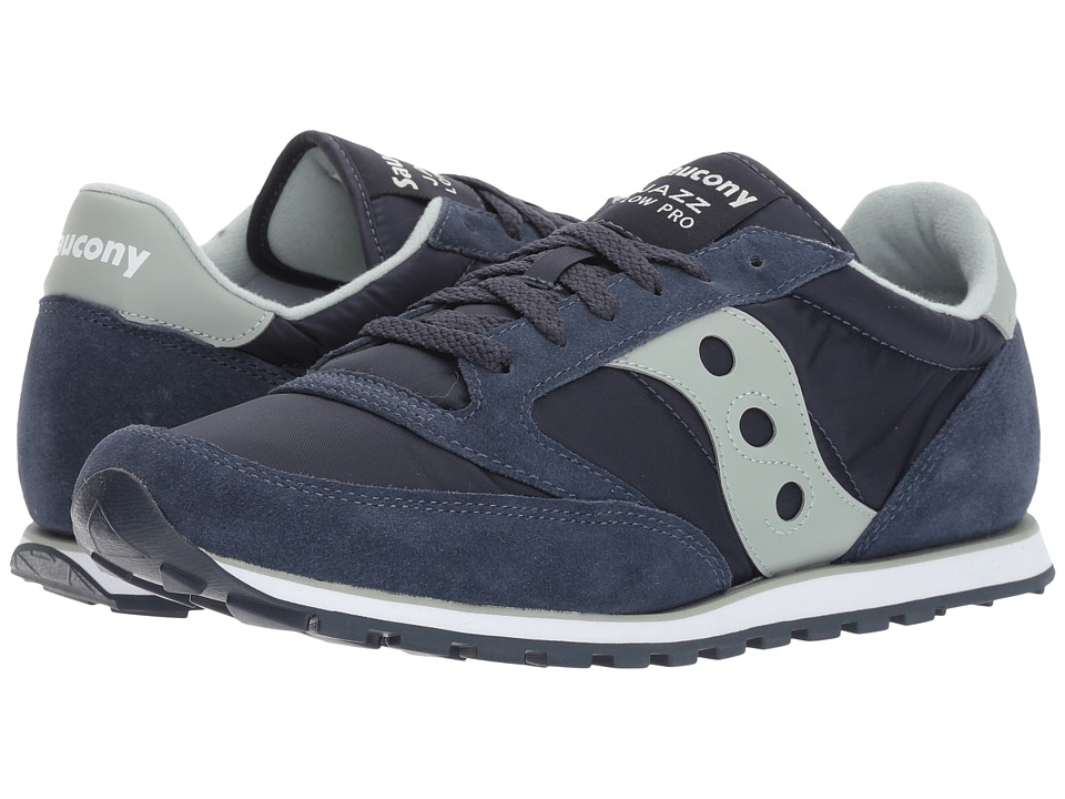 Saucony Originals - Jazz Low Pro (Navy/Aqua Grey) Men's Classic Shoes