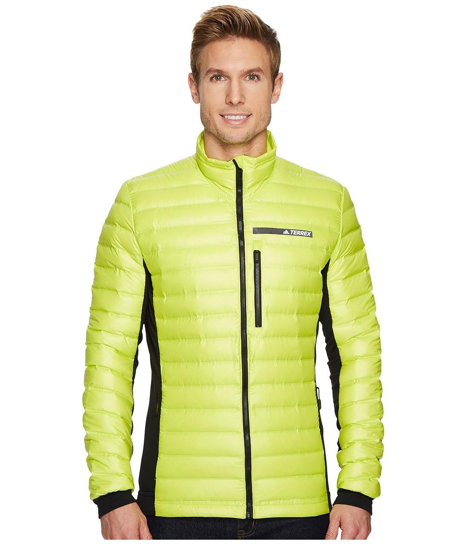 adidas Outdoor Terrex Hybrid Down Jacket (Semi Solar Yellow/Black) Men