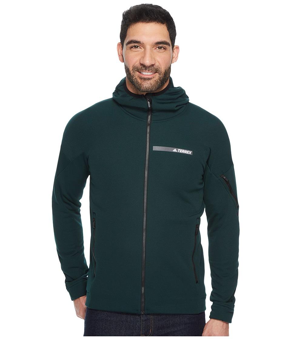 adidas Outdoor Terrex Climaheat Ultimate Fleece Jacket (Green Night) Men