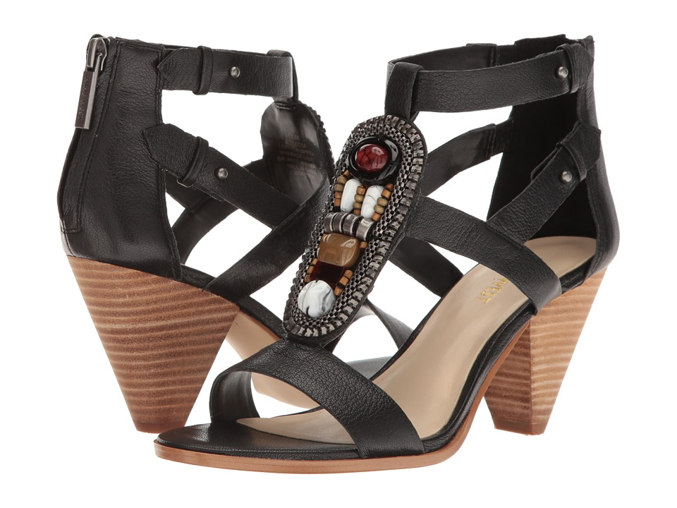Nine West - Reese (Black Leather) Women's Sandals