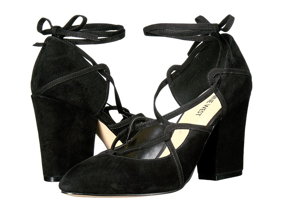 Nine West - Sanyu (Black Suede) High Heels