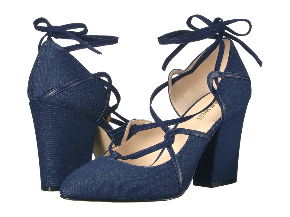 Nine West - Sanyu (Navy Denim) High Heels