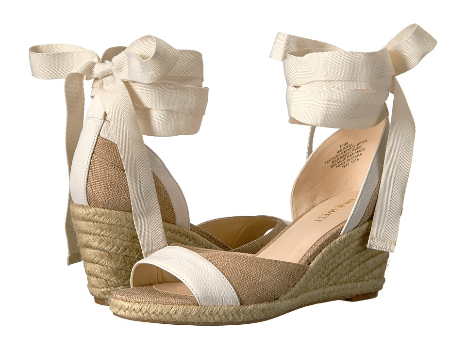 Nine West - Jaxel 2 (Natural/White Fabric) Women's Shoes