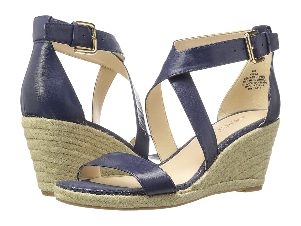 Nine West - Jay (Navy Leather) Women's Shoes
