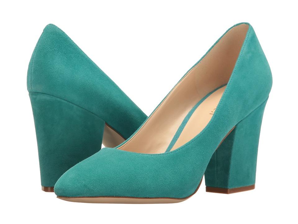 Nine West - Scheila (Dark Turquoise Suede) High Heels