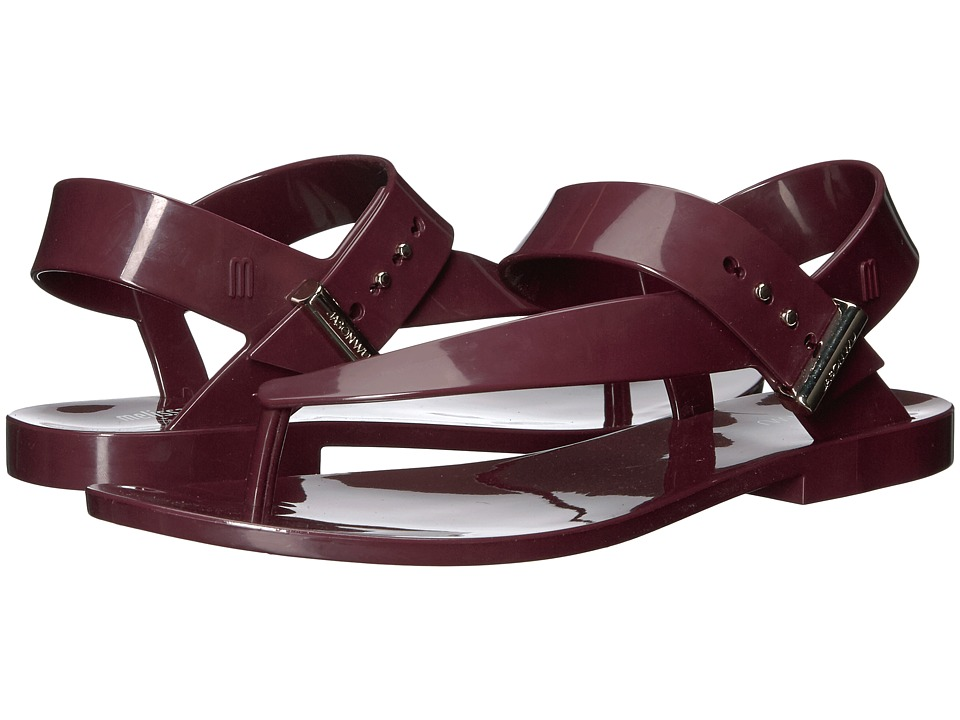 Melissa Shoes - Charlotte + Jason Wu (Burgundy) Women's Dress Sandals