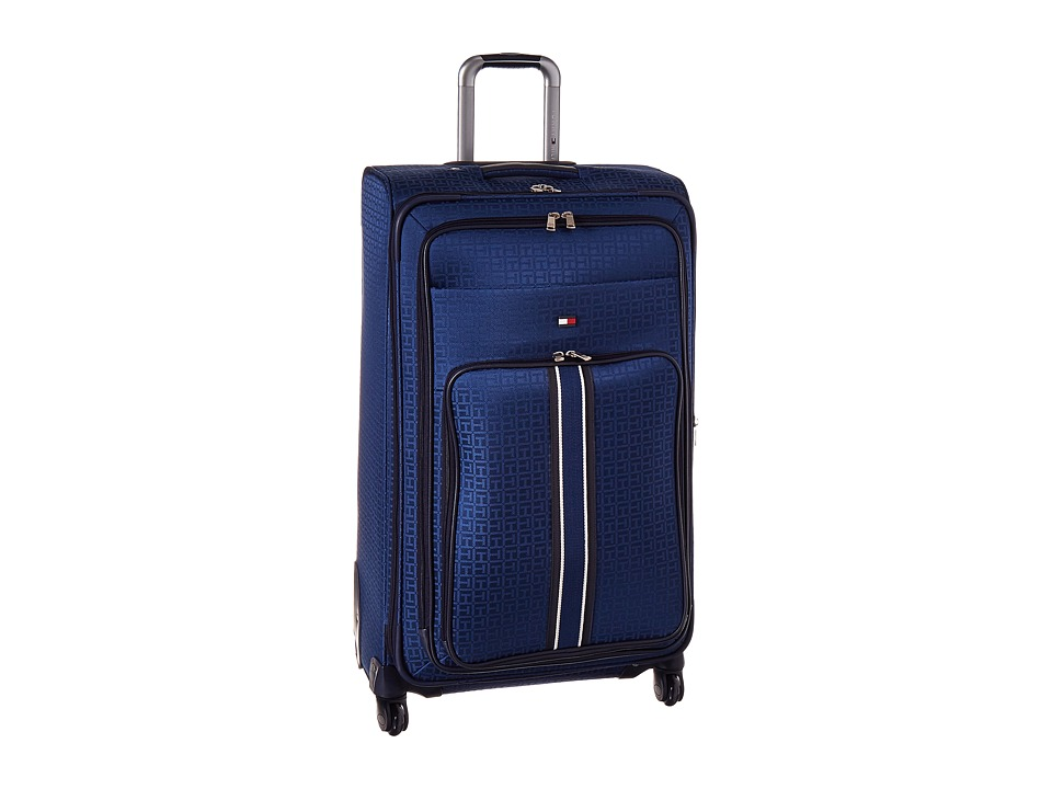 Tommy Hilfiger - Classic Signature 28 Jacquard Suitcase (Blue) Carry on Luggage