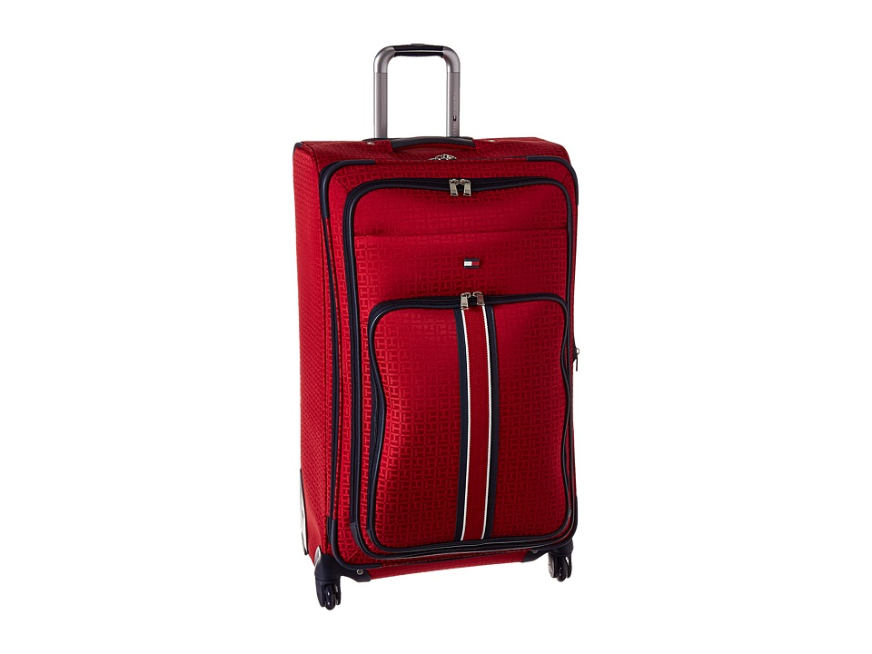 Tommy Hilfiger - Classic Signature 28 Jacquard Suitcase (Red) Carry on Luggage