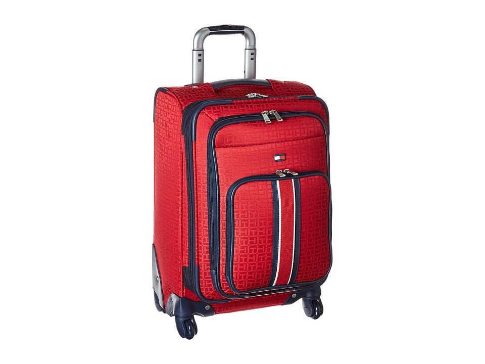 Tommy Hilfiger - Classic Signature 21 Jacquard Suitcase (Red) Carry on Luggage