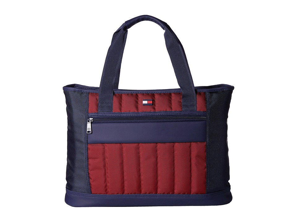 Tommy Hilfiger - Classic Sport Shopper Tote (Navy/Burgundy) Tote Handbags