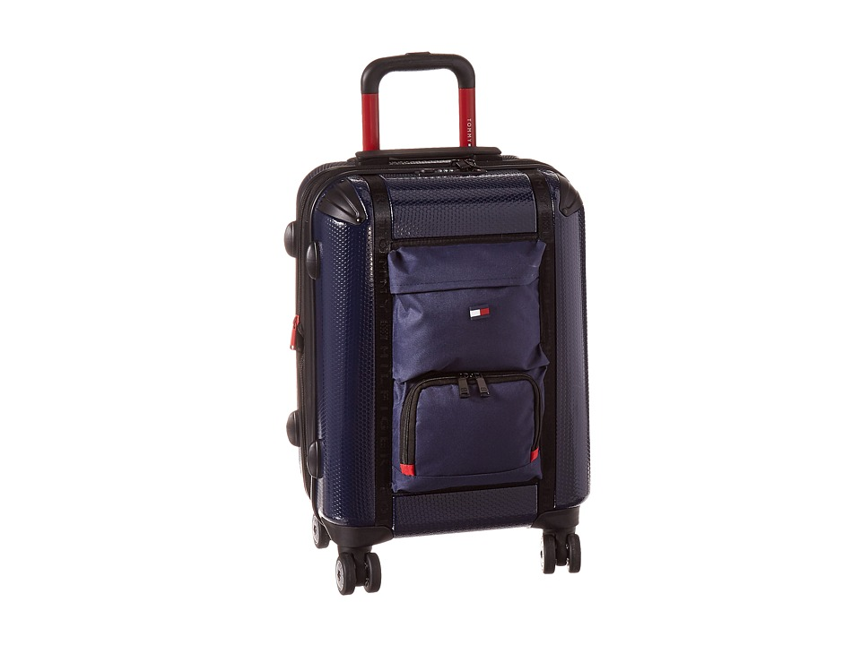 Tommy Hilfiger - Harbor Hybrid 20 Upright Suitcase (Navy) Carry on Luggage