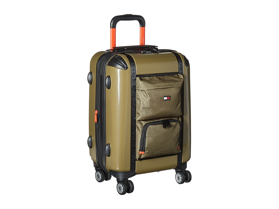 Tommy Hilfiger - Harbor Hybrid 21 Upright Suitcase (Olive) Carry on Luggage
