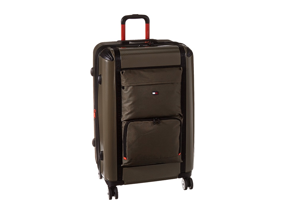 Tommy Hilfiger - Harbor Hybrid 28 Upright Suitcase (Olive) Carry on Luggage