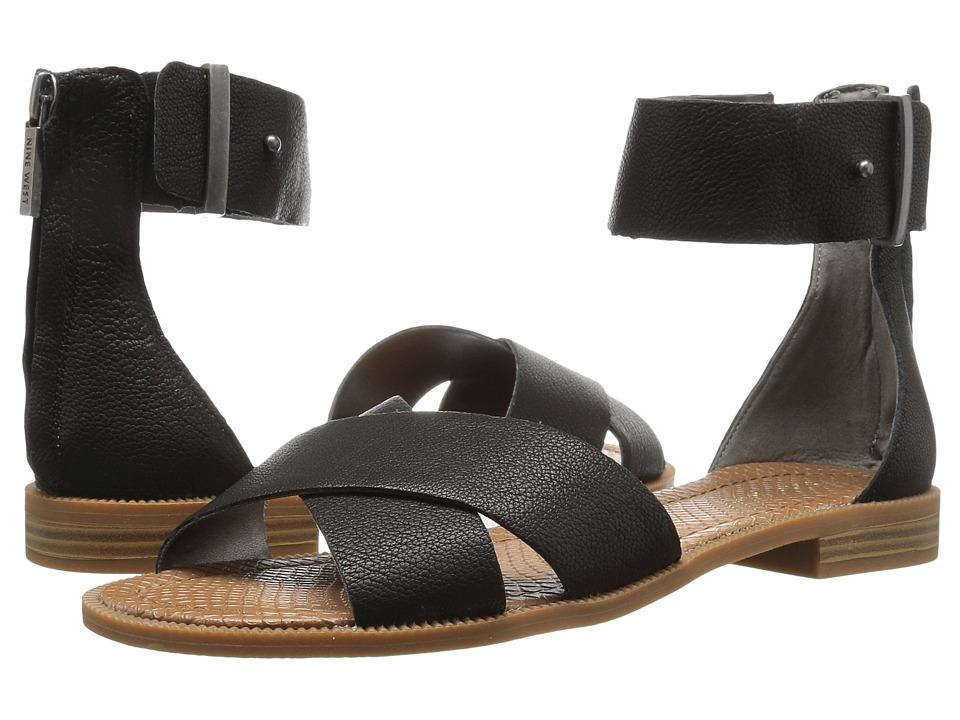 Nine West - Xen (Black Leather) Women's Sandals