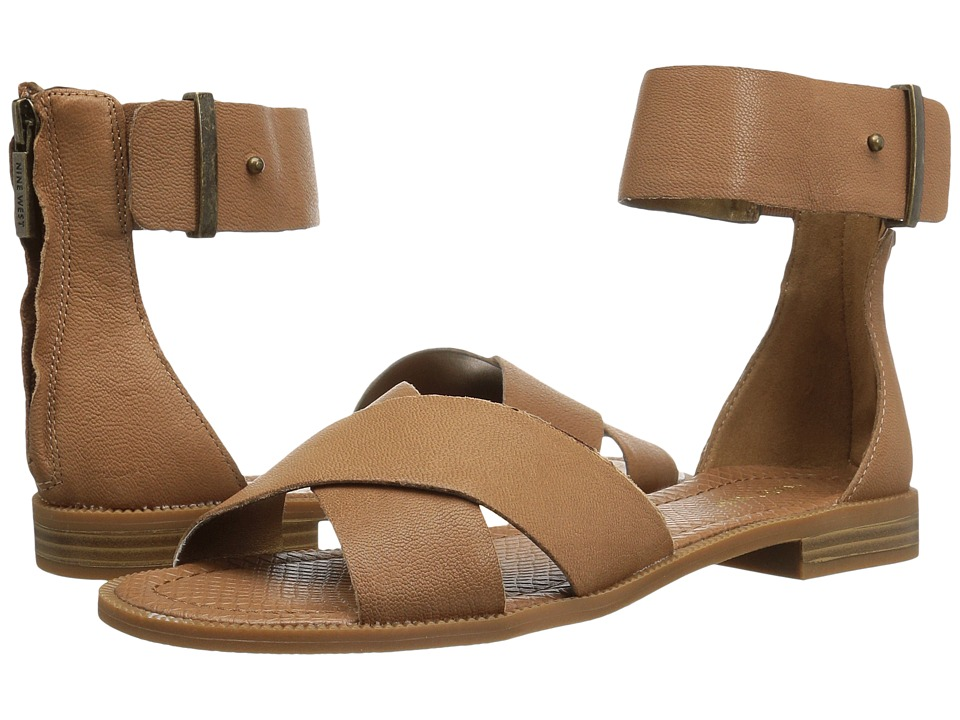 Nine West - Xen (Dark Natural Leather) Women's Sandals