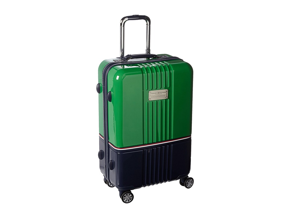 Tommy Hilfiger - Duo Chrome 24 Upright Suitcase (Green/Navy) Carry on Luggage