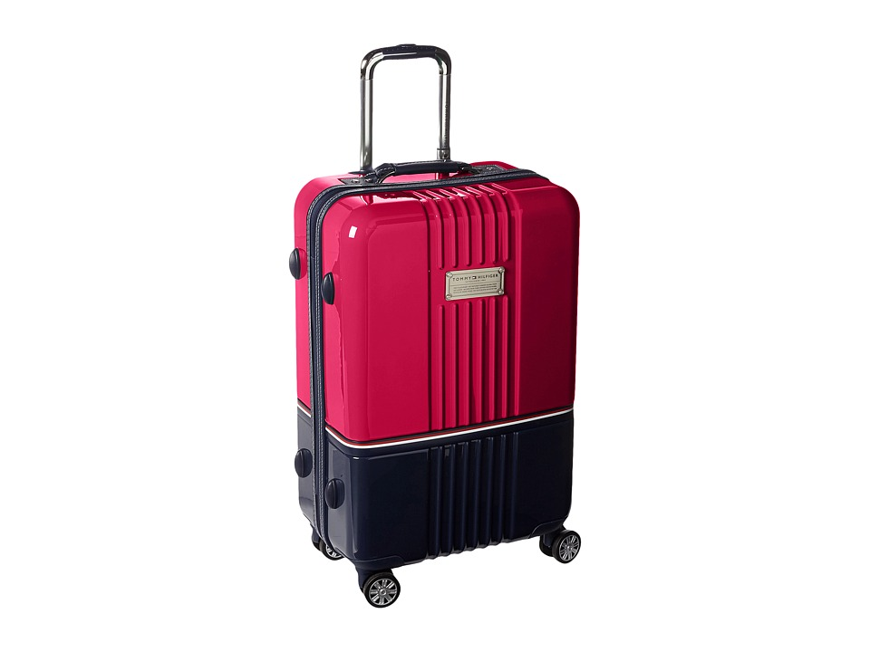 Tommy Hilfiger - Duo Chrome 24 Upright Suitcase (Pink/Navy) Carry on Luggage