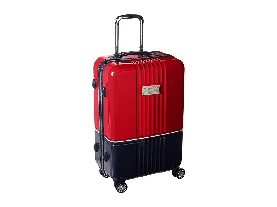 Tommy Hilfiger - Duo Chrome 24 Upright Suitcase (Red/Navy) Carry on Luggage