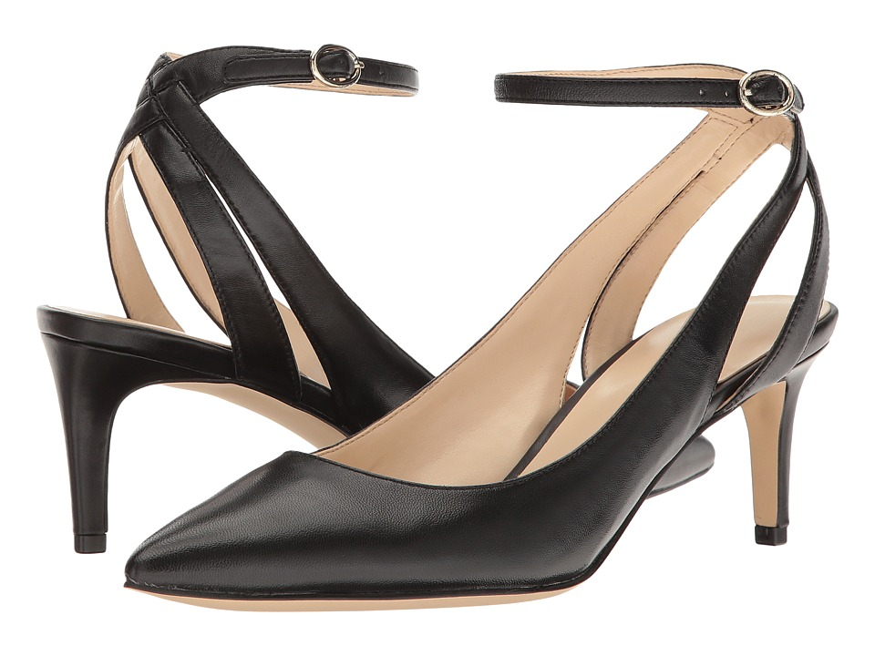 Nine West - Shawn (Black Leather) High Heels