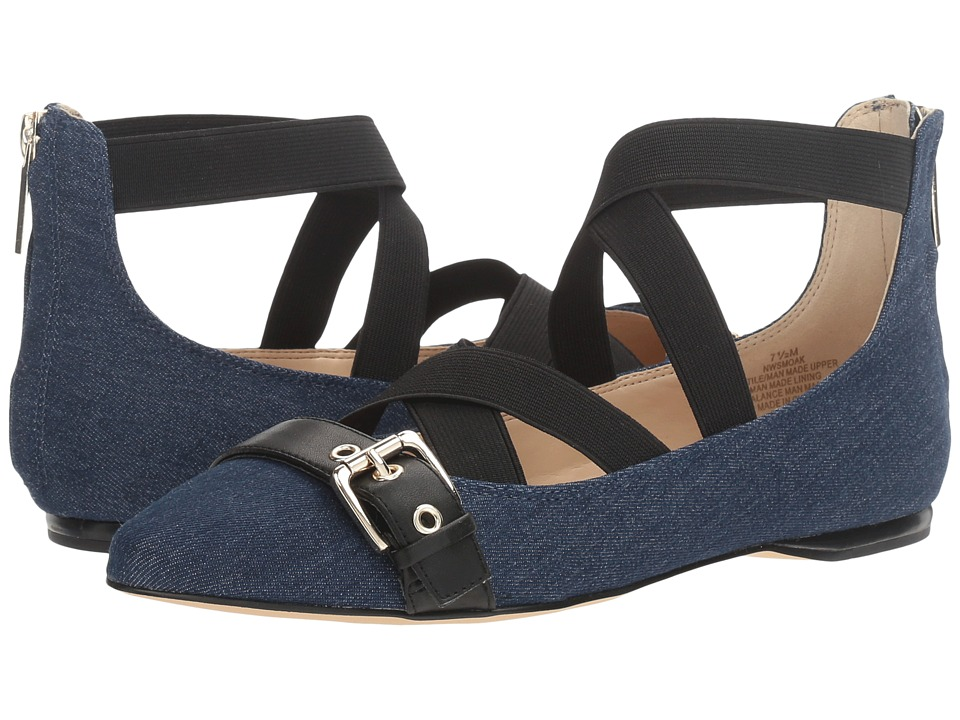 Nine West - Smoak 2 (Blue Multi Denim) Women's Flat Shoes