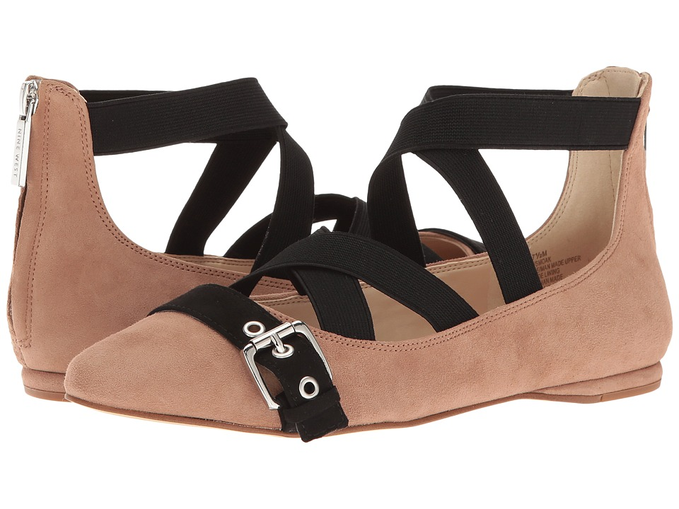 Nine West - Smoak 2 (Natural Multi Suede) Women's Flat Shoes