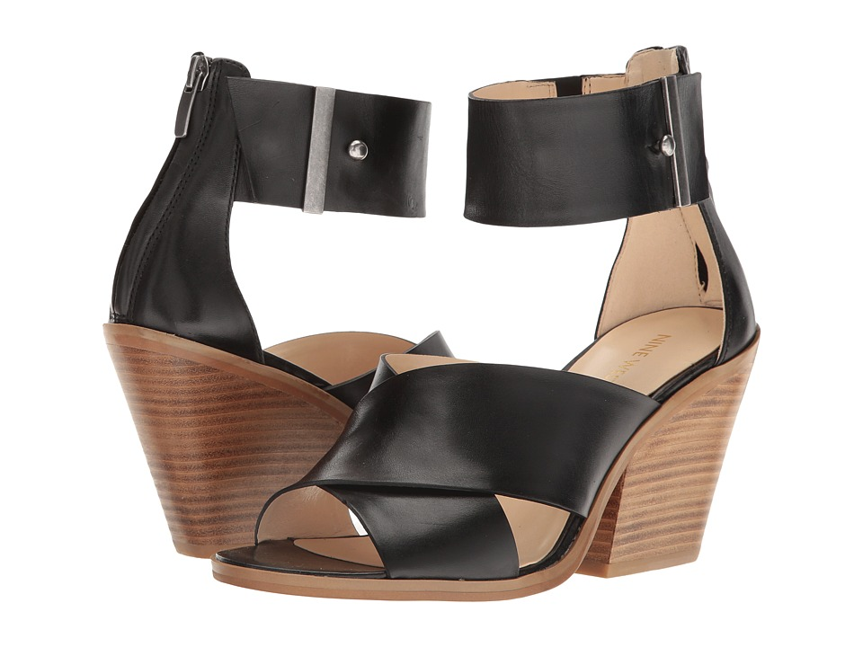 Nine West - Yannah (Black Leather) Women's Sandals