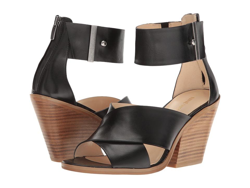 Nine West - Yannah (Black Leather) Women's Sandals
