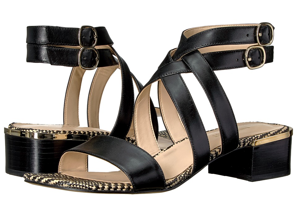Nine West - Yesta (Black Leather) Women's Sandals