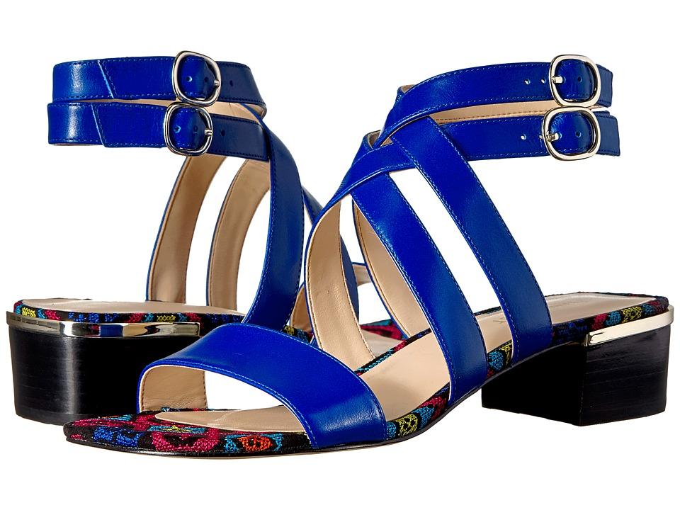 Nine West Yesta (Blue Leather) Women