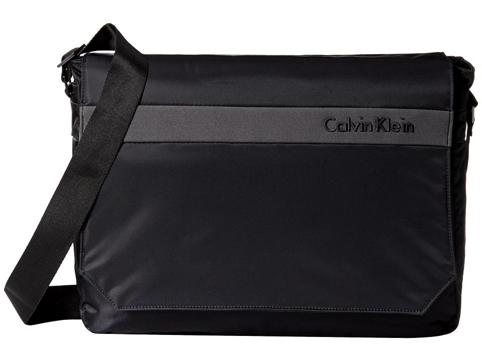 Calvin Klein - Flatiron 3.0 Messenger Bag (Black) Messenger Bags
