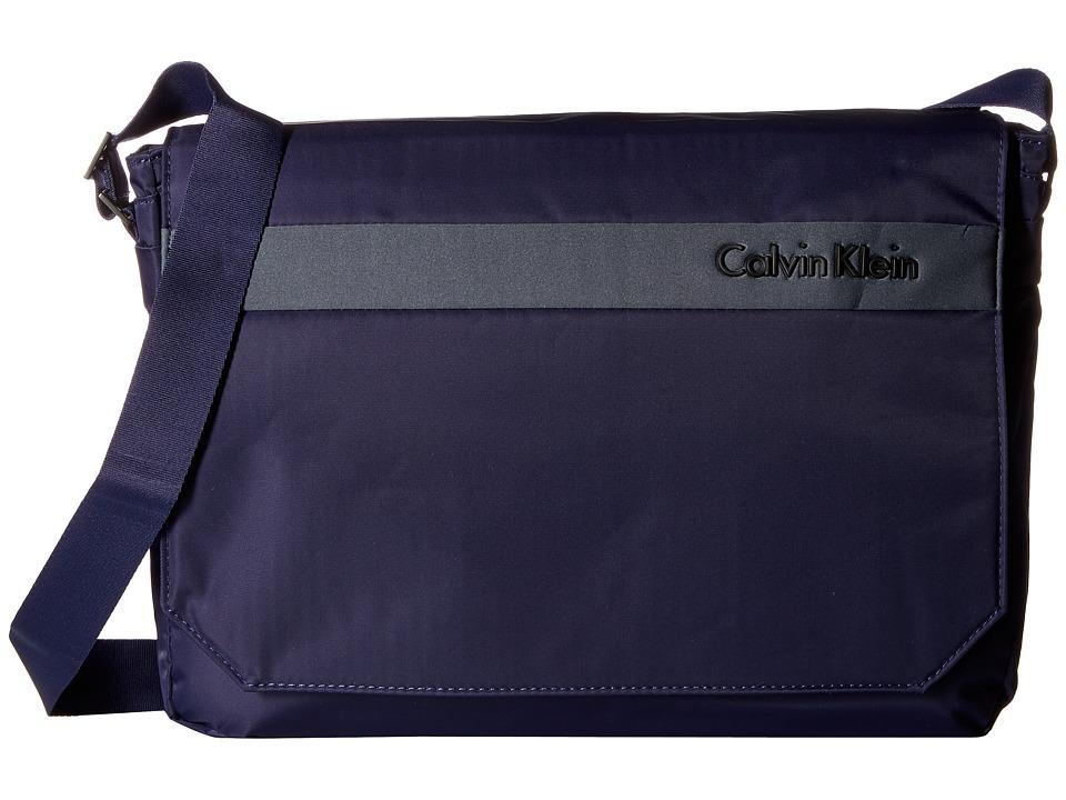 Calvin Klein - Flatiron 3.0 Messenger Bag (Blue) Messenger Bags