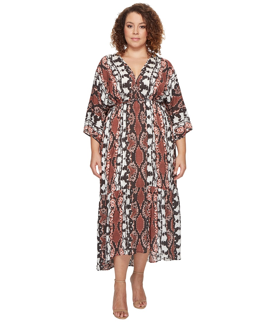 Tart - Plus Size Camellia Maxi (Inkblot Python) Women's Dress