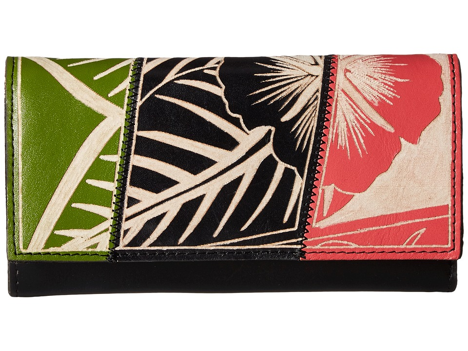 Patricia Nash - Terresa Wallet (Black Multi Floral) Wallet Handbags