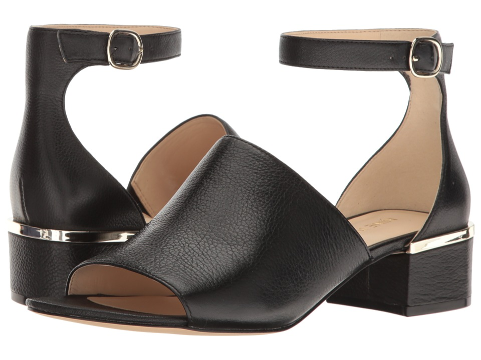 Nine West - Yorada (Black Leather) Women's Sandals
