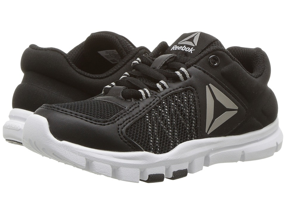 Reebok Kids - Yourflex Train 9.0 (Little Kid/Big Kid) (Black/Skull Grey/White) Boys Shoes