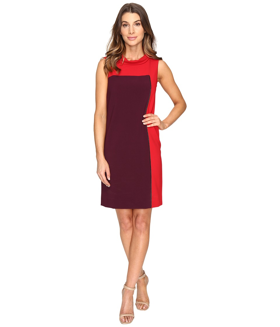 Tahari by ASL - Rollneck Sheath Dress (Cherry/Lipstick) Women's Dress