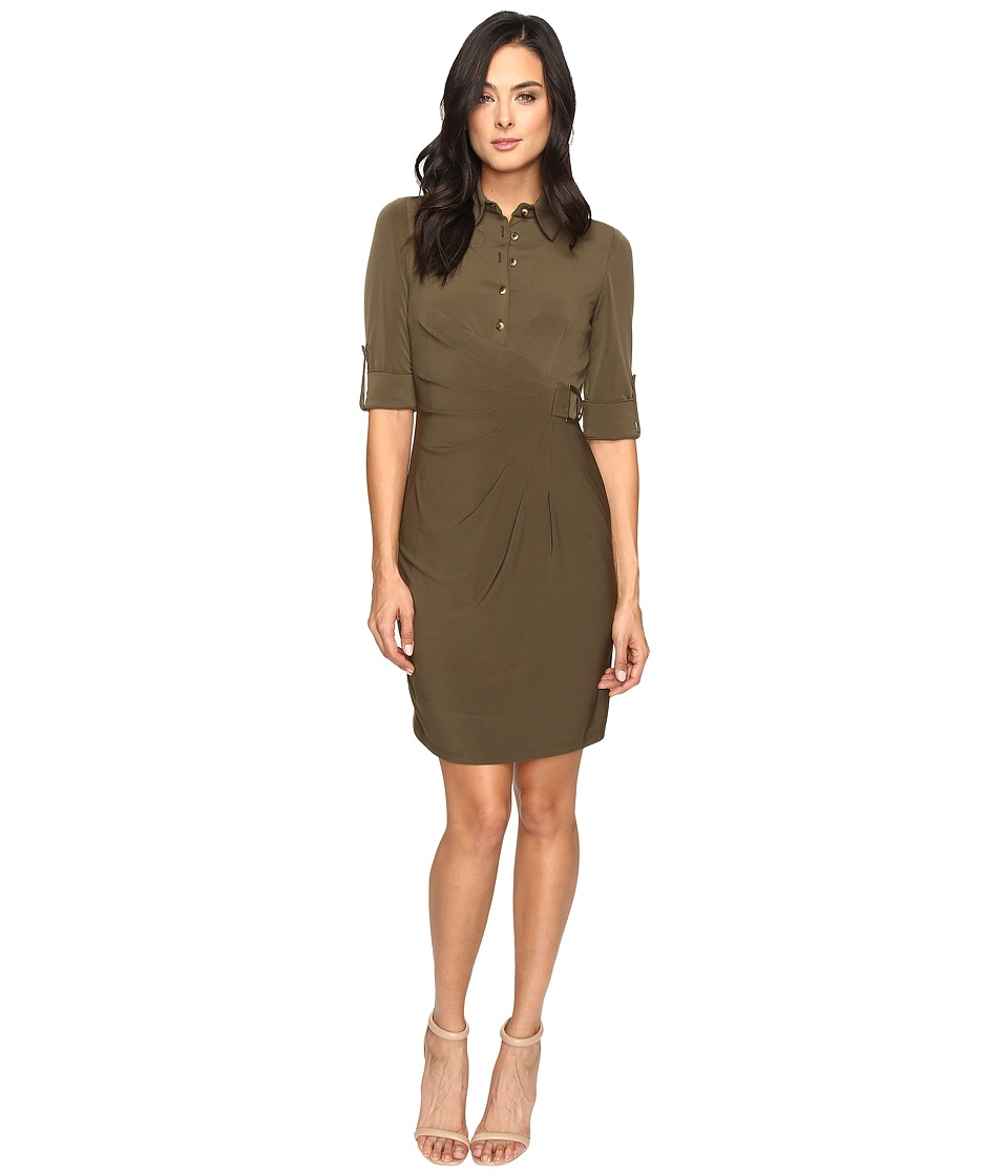Tahari by ASL - Jersey Shirtdress with Hardware (Loden) Women's Dress