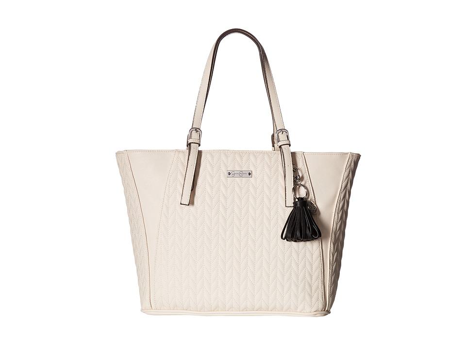 Jessica Simpson - Cynthia Tote ( clair/Black Tassel) Tote Handbags
