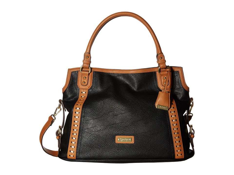 Jessica Simpson - Willow Tote (Black/Cognac/Gold) Tote Handbags