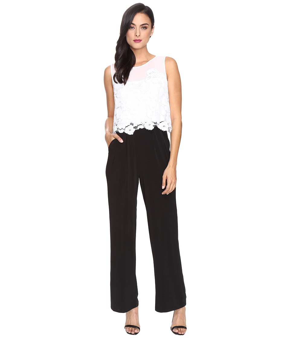 Sangria - Popover Jumpsuit (Black/Ivory) Women's Jumpsuit & Rompers One Piece