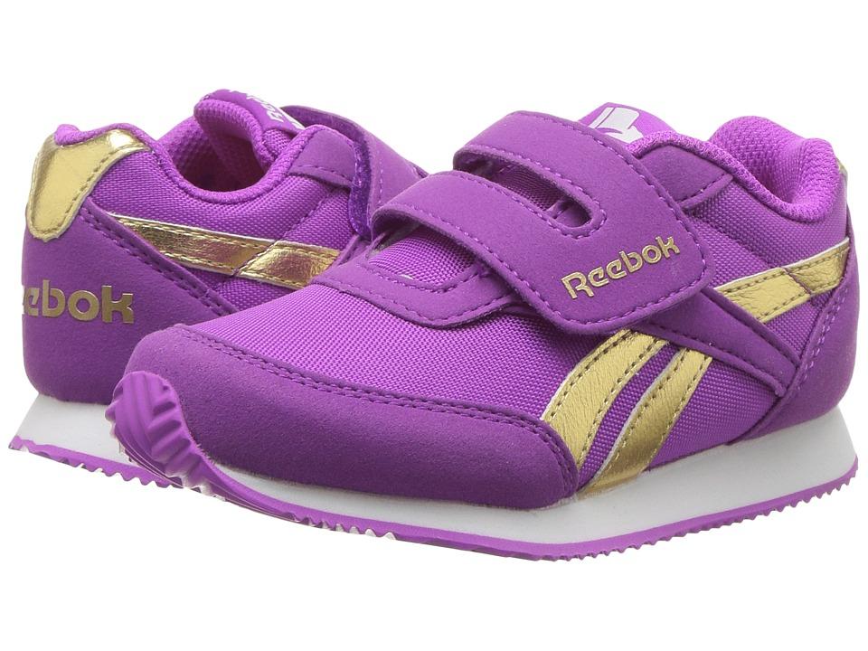 Reebok Kids Royal CL Jogger 2RS KC (Toddler) (Vicious Violet/Gold) Girls Shoes