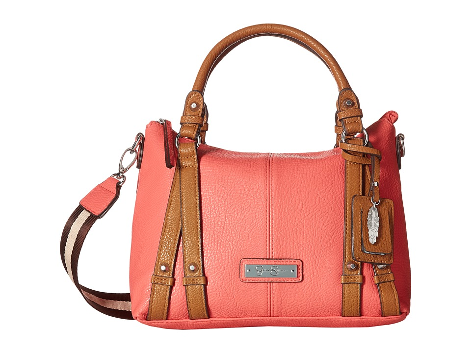 Jessica Simpson - Greer Small Crossbody Tote (Spiced Coral/Cognac) Tote Handbags