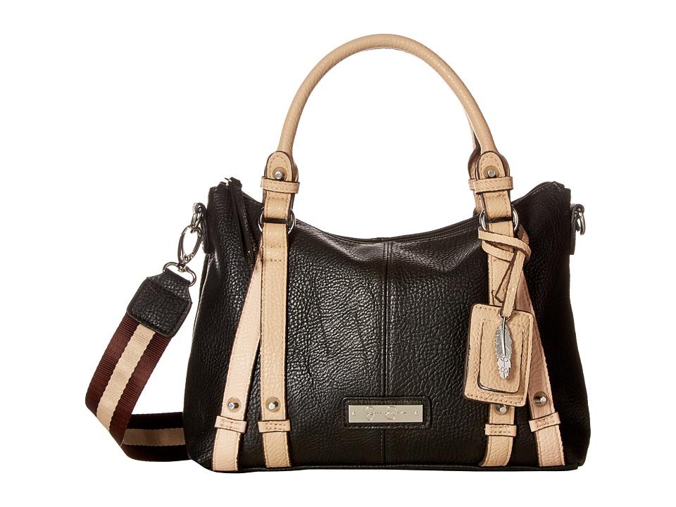Jessica Simpson - Greer Small Crossbody Tote (Black/Toasted Almond) Tote Handbags