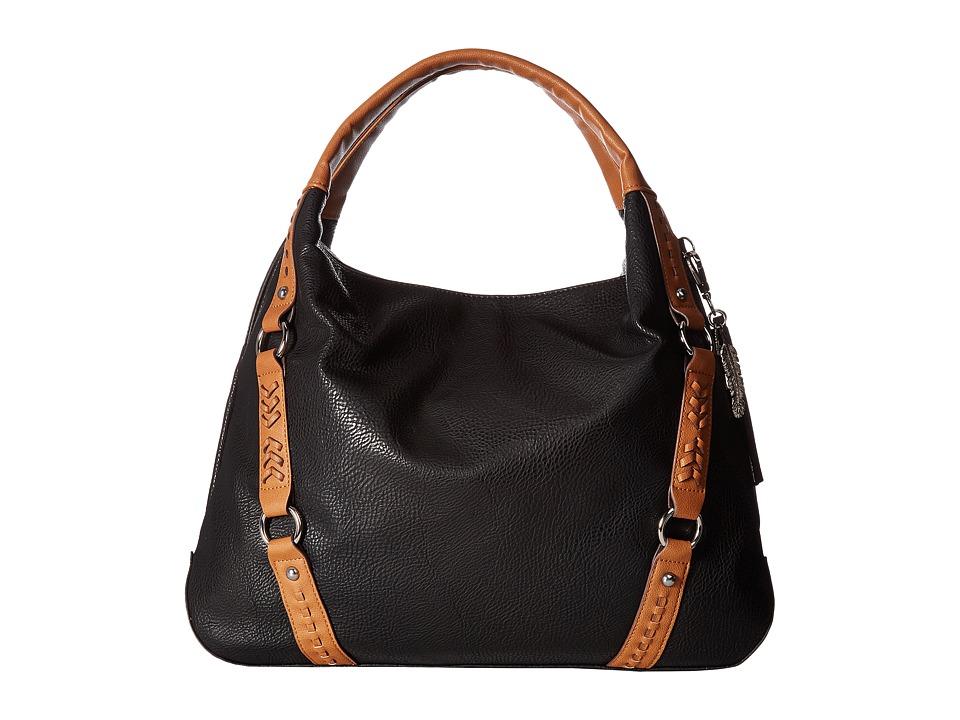 Jessica Simpson - Shana Tote (Black/Cognac) Tote Handbags