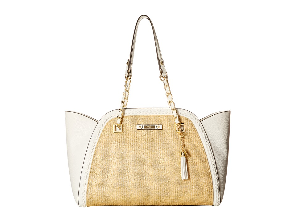 Jessica Simpson - Winnie East/West Tote (Straw White) Tote Handbags