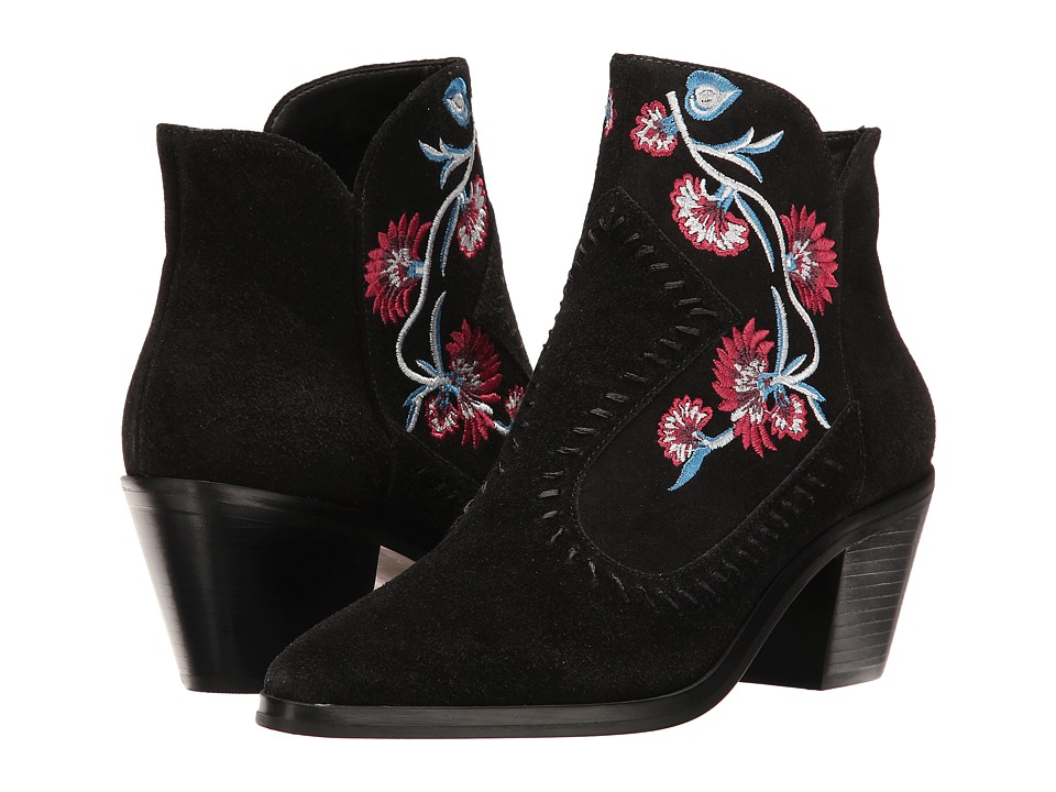 Rebecca Minkoff - Lulu Embroidery (Black Kid Suede/Embroidery) High Heels