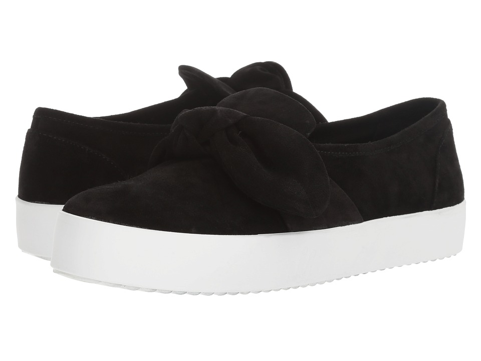 Rebecca Minkoff - Stacey (Black Oiled Suede) Women's Slip on Shoes
