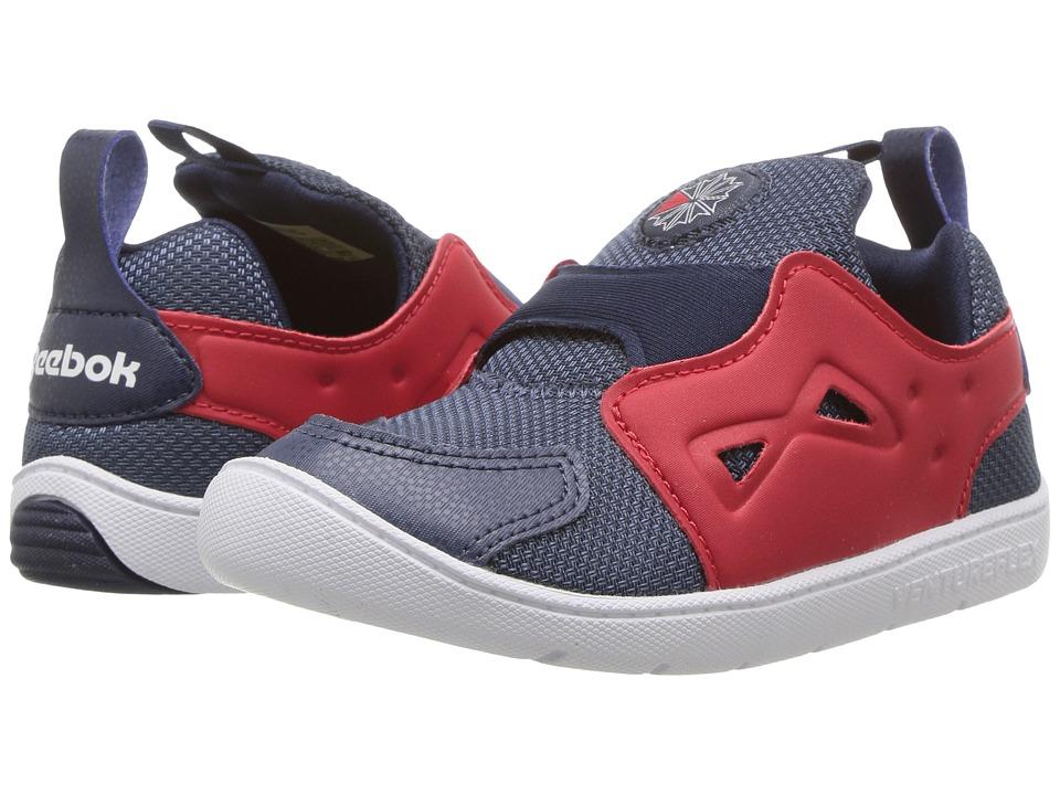 Reebok Kids - Ventureflex Slip-On (Toddler) (Smoky Indigo/Primal Red/Navy/White) Boys Shoes